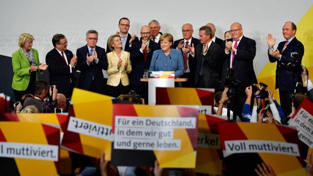 Spodziewaliśmy się lepszych wyników – pwoiedział kanclerz Niemiec do swoich zwolenników w wieczór wyborczy (fot. Alexander Koerner/Getty Images)