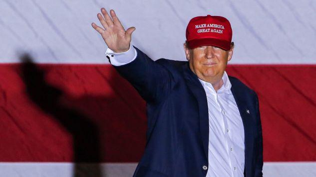 Kandydat Republikanów na urząd prezydenta, Donald Trump (fot. PAP/EPA/ERIK S. LESSER)