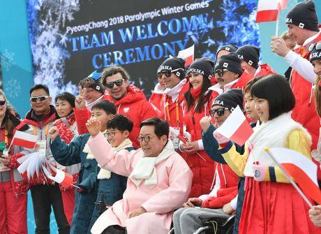 Powitanie polskich paraolimpijczyków w Pjongczangu