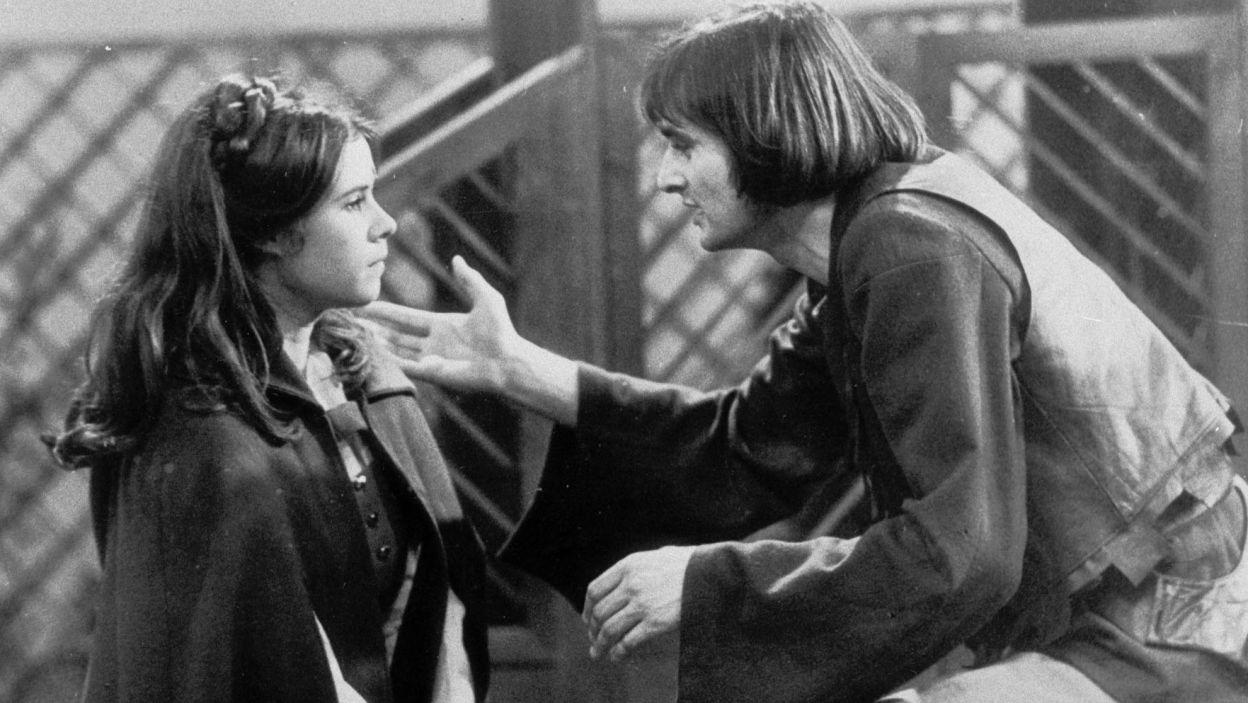 Rok 1976. Jako młody Faust w przedstawieniu Grzegorza Królikiewicza według dramatu J. W. Goethego (fot. TVP)