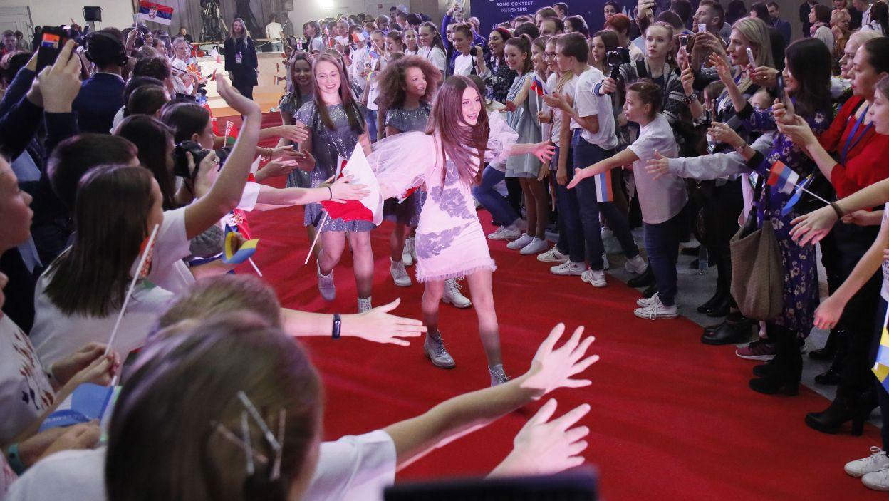 W Mińsku młodzi artyści wzięli udział w oficjalnej ceremonii otwarcia Eurowizji Junior (fot. Andres Putting/Eurovision)