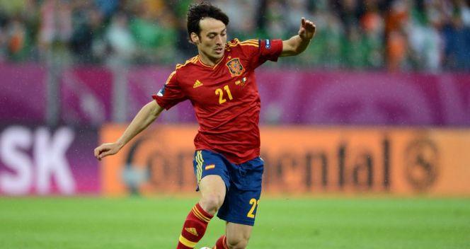 David Silva otworzył wynik finałowego meczu z Włochami (fot. Getty Images)
