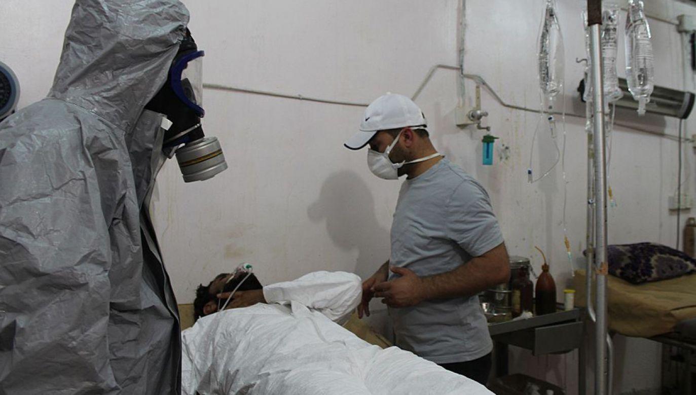 Wspierany przez Rosję reżim w Damaszku stosuje broń chemiczną (fot. Ebu Omer/Anadolu Agency/Getty Images)