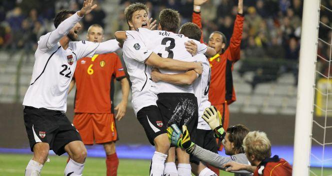 Austriacy wyrównali dopiero w doliconym czasie gry (fot.PAP/EPA)