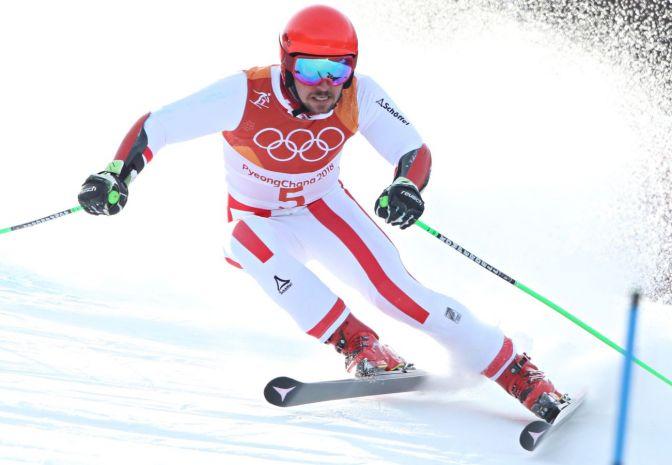 Slalom gigant: Hirscher prowadzi po pierwszym przejeździe