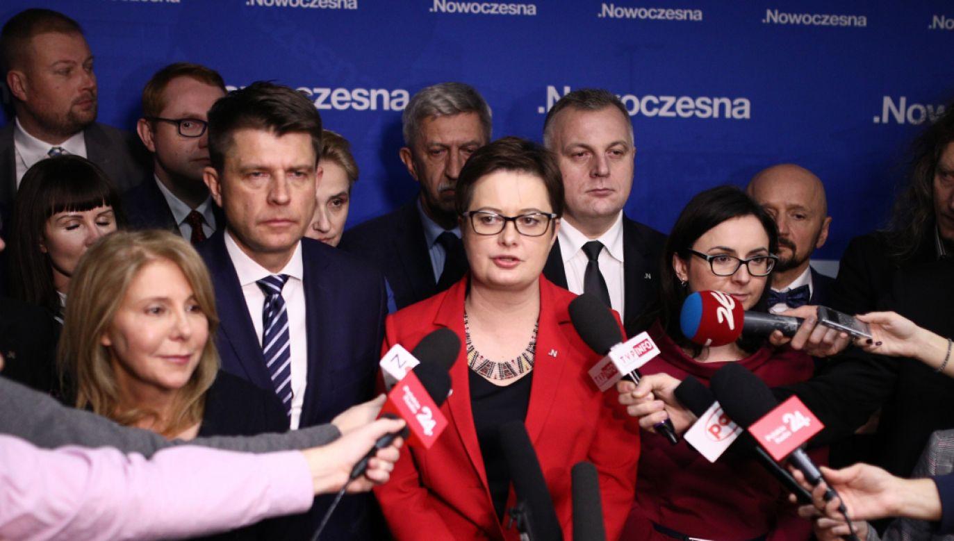 Lubnauer zapowiedziała, że w styczniu zostaną wybrani wiceprzewodniczący partii (fot. PAP/Leszek Szymański)