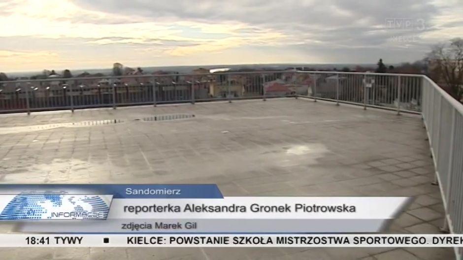 ... świetnie widac z niego panorame Sandomierza...