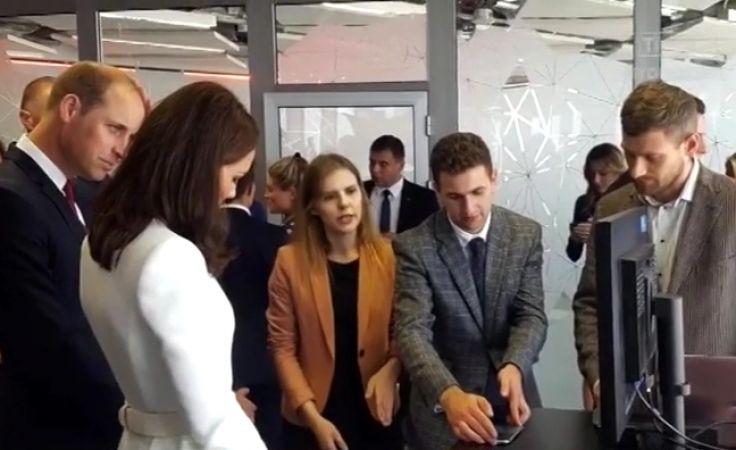 Młodzi naukowcy z Torunia na spotkaniu z Wiliamem i Kate