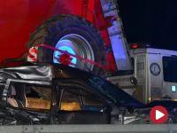 Łódzkie: pijany kierowca wepchnął auto przed nim pod tira. Dwie osoby zginęły