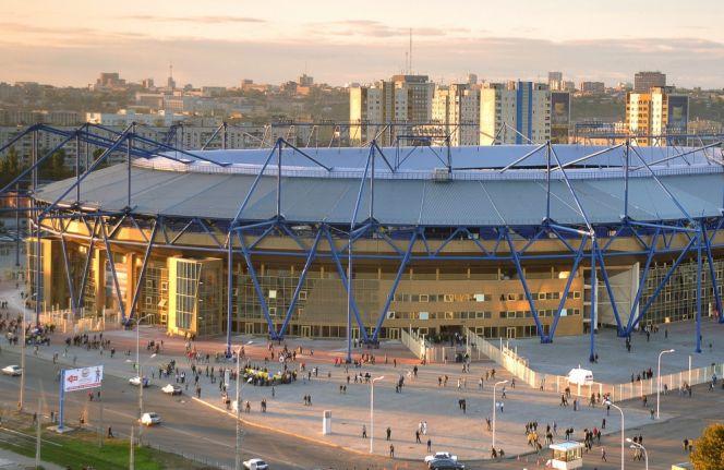 Obiekt w Charkowie kosztował 1,5 mld złotych (fot. PAP/EPA)
