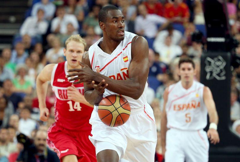 Serge Ibaka dał Hiszpanom dwa punkty (fot. Getty Images)