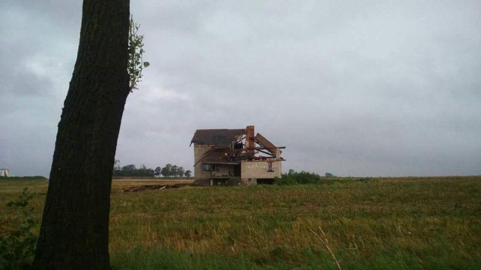 Zniszczenia w Żninie (fot.Twoje Info/Przemek)