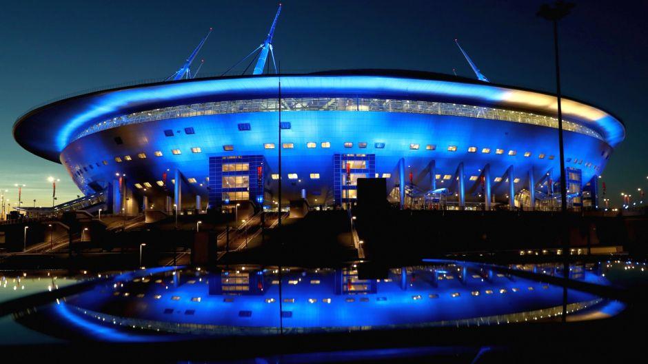 Stadion Kriestowskij – Zenit Arena (Sankt Petersburg). Pojemność: 68 143. Rok otwarcia: 2017. Klub: Zenit St. Petersburg (fot. Getty)
