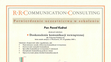 Kurs doskonalenia komunikacji wewnętrznej