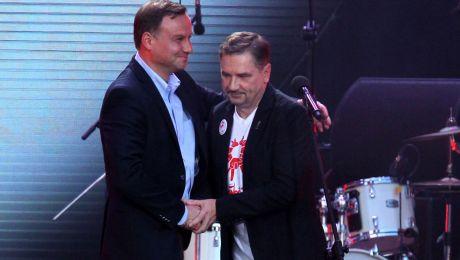 Prezydent Andrzej Duda (L) i przewodniczący