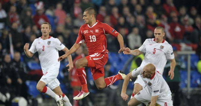 Szwajcaria pewnie pokonała Walię 4:1 (fot.PAP/EPA)