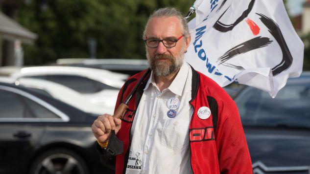 Mateusz Kijowski, były lider KOD, podejrzany jest o przywłaszczenie 121 tys. zł (fot. Jan A. Nicolas/ PAP/DPA)