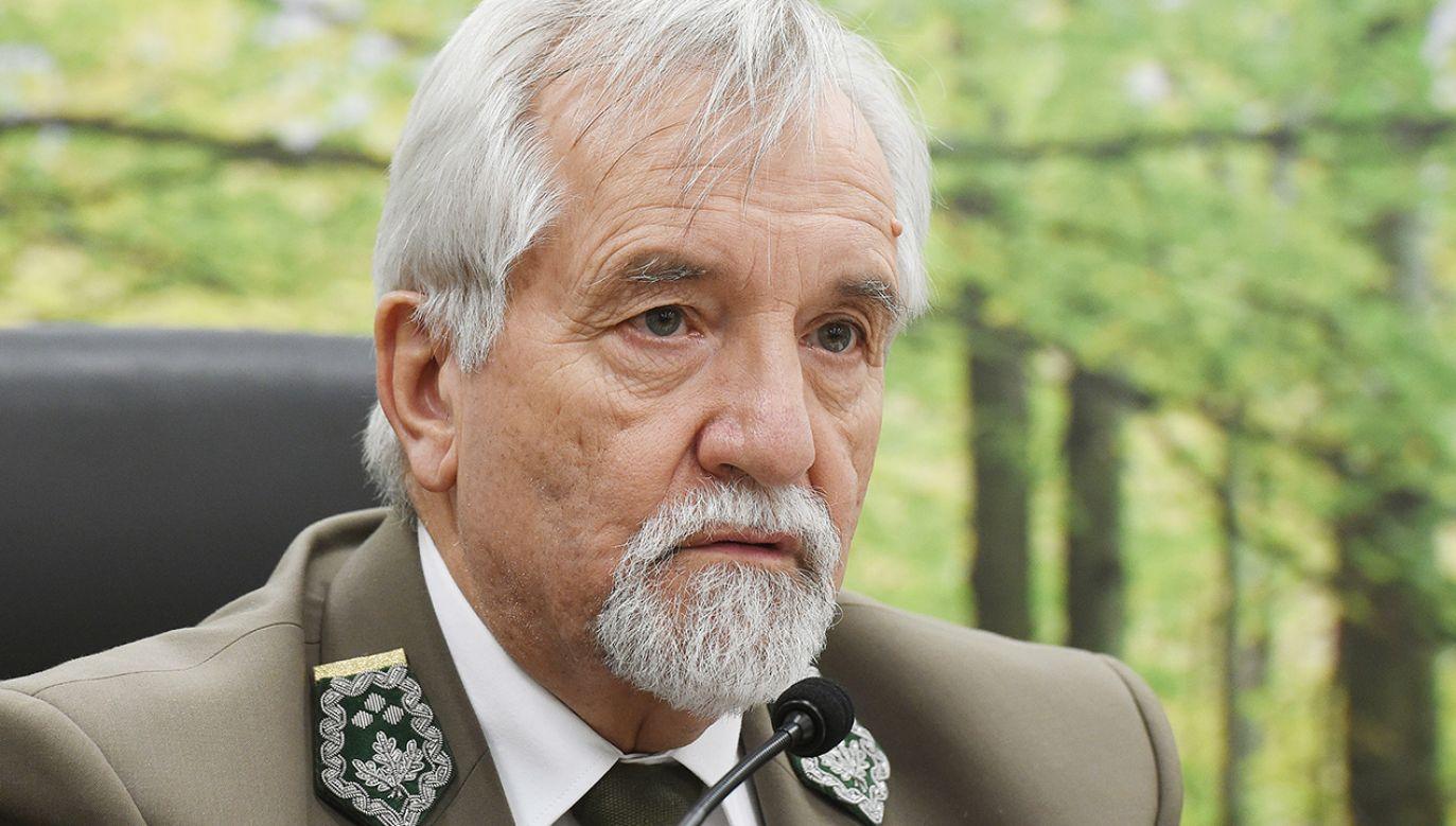 Odwołany dyrektor generalny Lasów Państwowych Konrad Tomaszewski (fot. PAP/Radek Pietruszka)