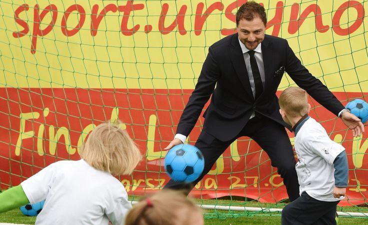 Jerzy Dudek grał w Warszawie na otwartym przez UEFA boisku/ fot. PAP