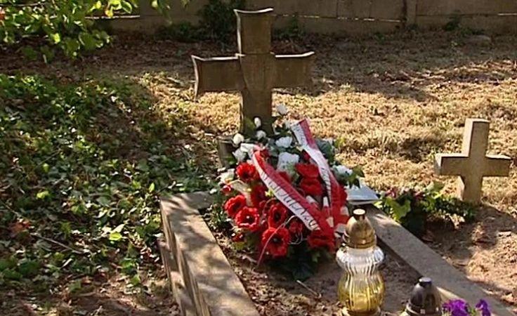 Po 70 latach bliscy zapalili znicz na grobie kpt. Sierki