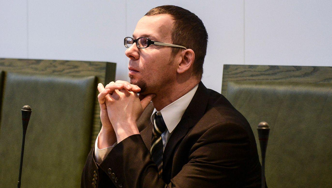 Oskarżony Mirosław Topyła na sali rozpraw Sądu Najwyższego w Warszawie (fot. PAP/Jakub Kamiński)