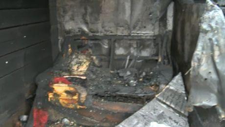 Spalony człowiek – nie zdążył uciec?