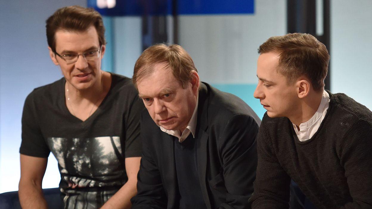 """Jerzy Zalewski, Wojciech Niemczyk, Marcin Kwaśny – o filmie """"Wyklęty"""".  (fot. Ireneusz Sobieszczuk/ TVP)"""