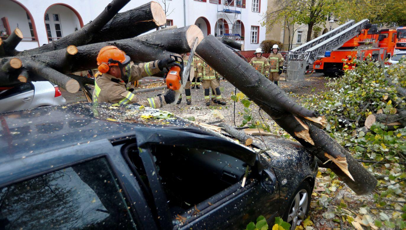 W Berlinie w niedzielę rano strażacy interweniowali 100 razy w ciągu trzech godzin (fot. REUTERS/Fabrizio Bensch)