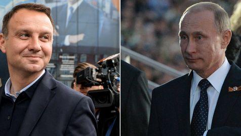 Władimir Putin wysłał do Warszawy telegram z pozdrowieniami dla Andrzeja Dudy (fot. PAP/Marcin Obara/Handout/Getty Images)