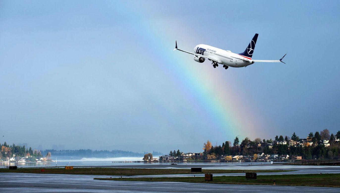 Boeing 737 MAX 8 (fot. facebook.com/LOT Polish Airlines)