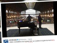 Zamieszanie na paryskim dworcu. Policjanci zatrzymali mężczyznę z nożem
