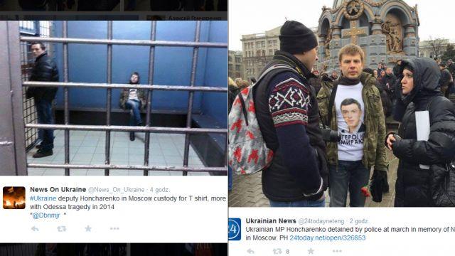 Ukraiński polityk zatrzymany po marszu w Moskwie. Kijów oburzony