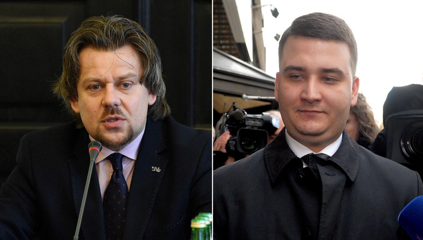 Piotr Misiło, Bartłomiej Misiewicz (fot. PAP/Radek Pietruszka/Marcin Obara)