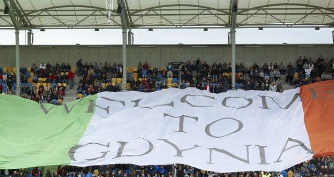 Polscy kibice zgotowali Irlandczykom gorące powitanie (fot. PAP/Adam Warżawa)