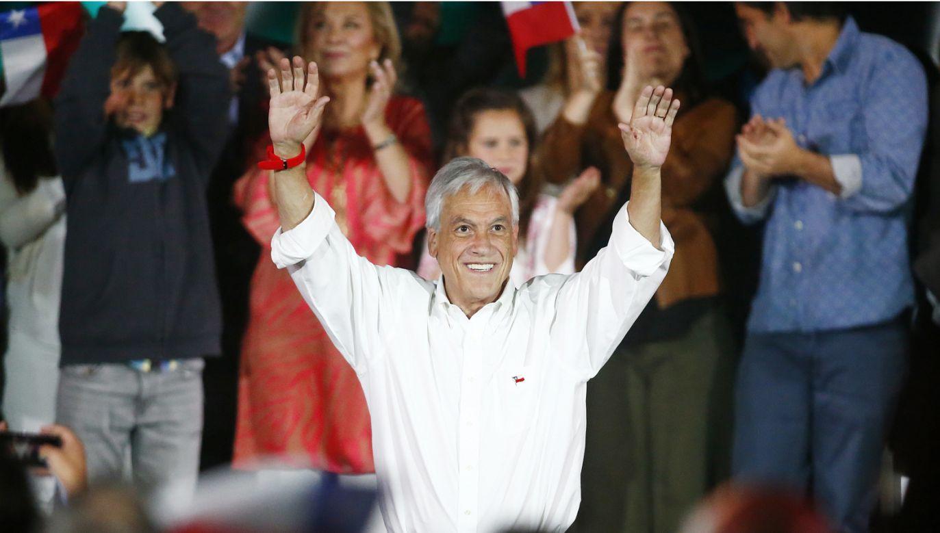Sebastian Pinera jest faworytem wyborów prezydenckich w Chile (Fot. PAP/EPA/ESTEBAN GARAY)