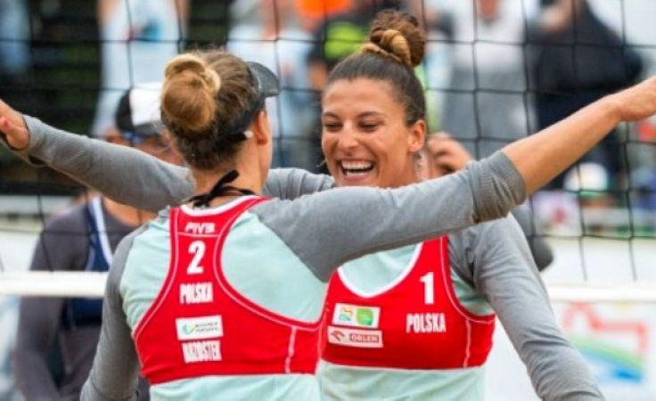 Kołosińska i Brzostek pierwszy raz w karierze znalazły się w najlepszej czwórce turnieju rangi World Tour (fot. grandslam.pzps.pl)