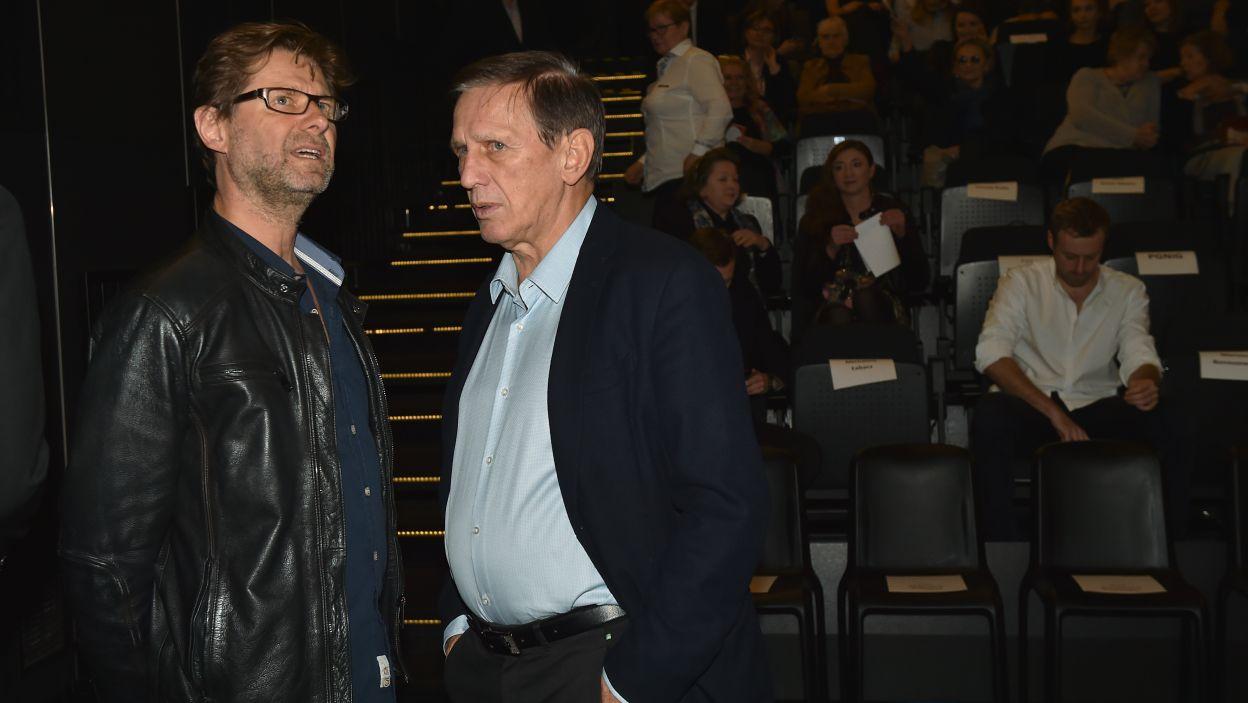 Reżyser i autor zdjęć, czyli Jan Englert w rozmowie z Piotrem Wojtowiczem (fot. I. Sobieszczuk)