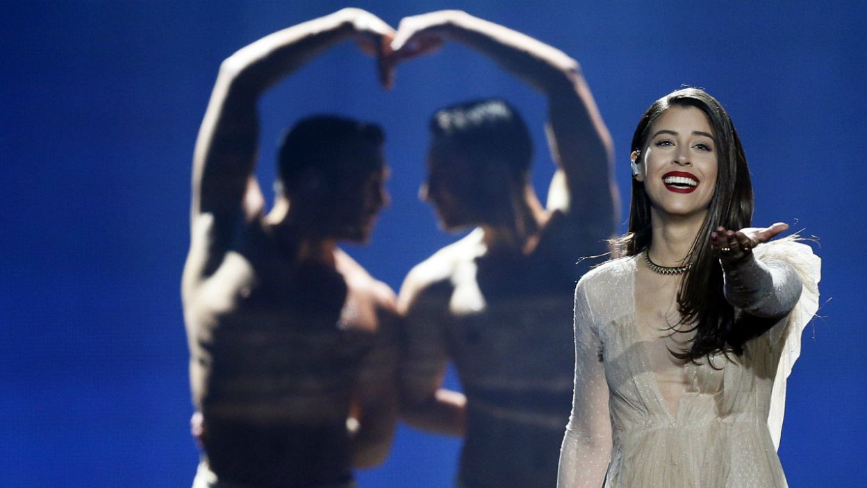 Reprezentantka Grecji od początku miała wielki apetyt na finał. 25-letnia Demi również znalazła się w gronie szczęśliwców (fot. PAP)
