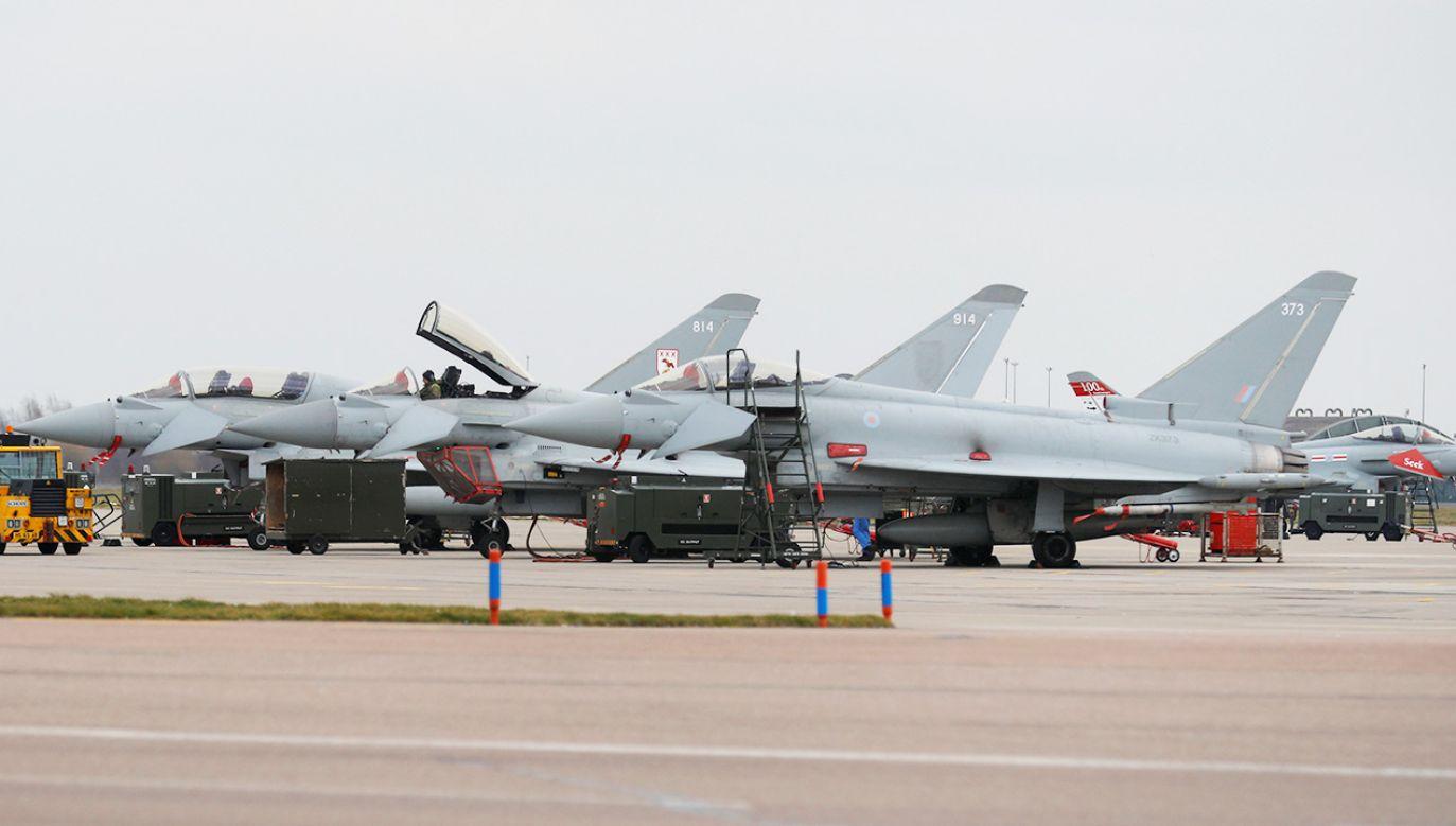 Poderwane zostały dwa myśliwce Eurofighter-2000 (fot. zdjecie ilustracyjne, REUTERS/Phil Noble)