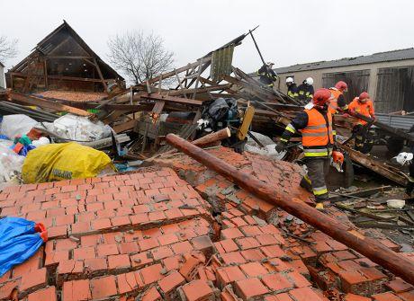 Tak wyglądałą Polska po przejściu huraganu