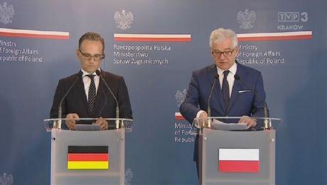 W Harmężach spotkali się szefowie MSZ Polski i Niemiec