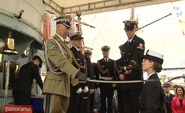 Promocje oficerskie na ORP Błyskawica w Gdyni