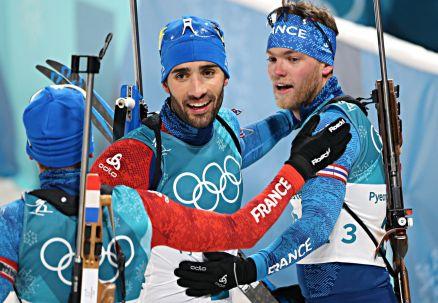 Biathlon: Fourcade dał Francji złoto w mikście. Polska na szesnastym miejscu