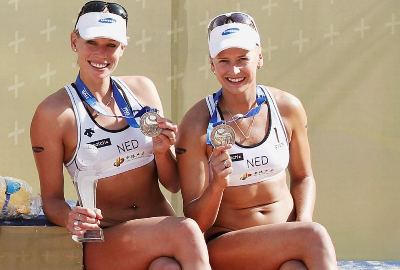 Sympatyczne Holenderki Sanne Keizer and Marleen Van Iersel (fot. Getty Images)