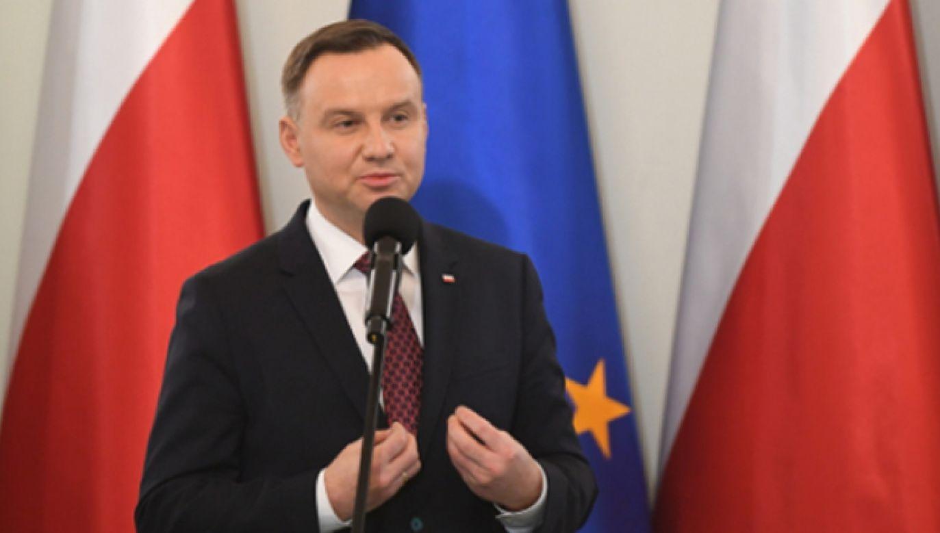 Prezydent Andrzej Duda (fot. PAP/Bartłomiej Zborowski)