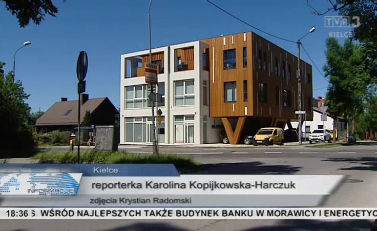 Zwycięzca konkursu. Budynek mieszkalno-usługowy przy ulicy Klonowej w Kielcach.