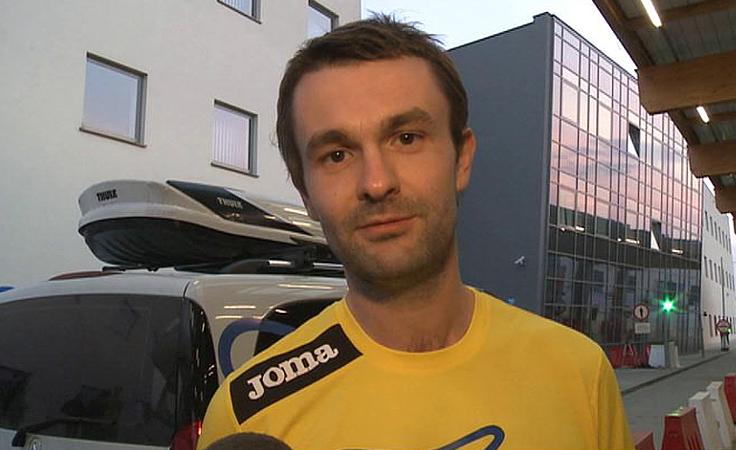 Grupa ukraińskich biegaczy w Polsce