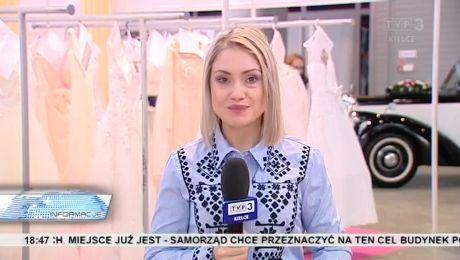 Limuzyna i suknia ze ślubnym welonem