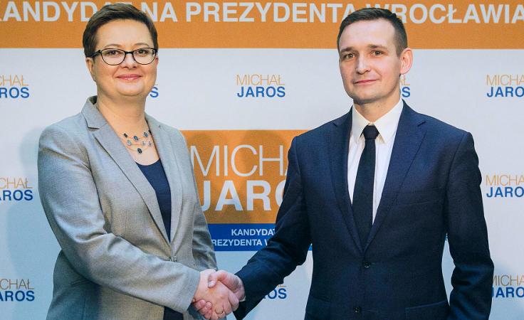 Katarzyna Lubnauer i Michał Jaros (źródło: michaljaros.pl)