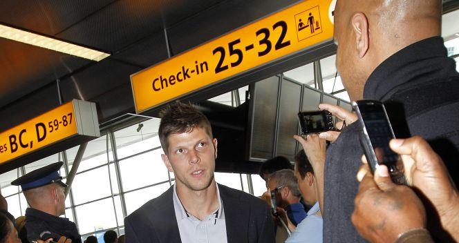 Napastnik Schalke 04 Klaas Jan Huntelaar (fot. PAP/EPA)